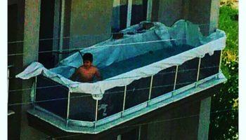 Прикол про жару бассейн на балконе обычной квартиры