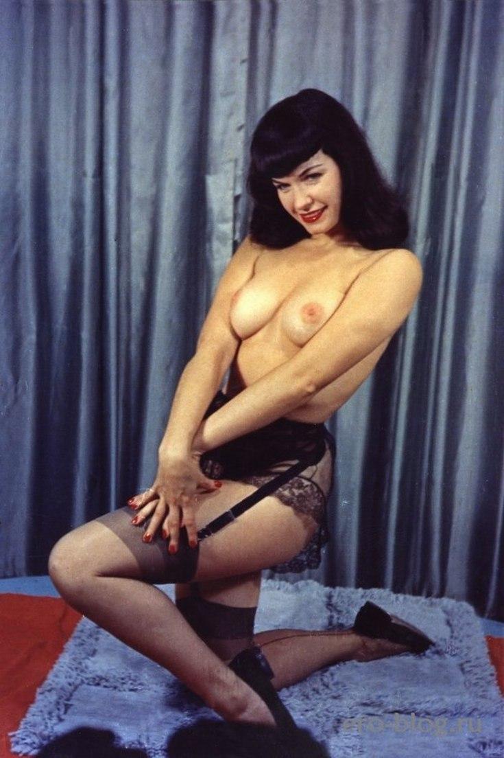 Американская модель Бетти Пейдж горячие интим фото